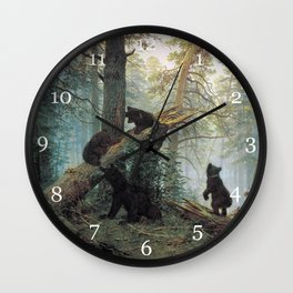 Shishkin Ivan Morning in a Pine Forest. Wall Clock