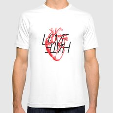 LOVE  –VS– HATE MEDIUM Mens Fitted Tee White