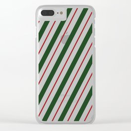 Peppermint Candy Cane Clear iPhone Case