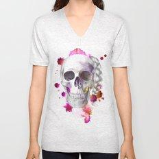 Braided Skull Unisex V-Neck