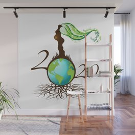 Mother Earth 2020 - White Wall Mural
