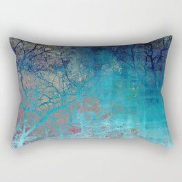 On the verge of Blue Rectangular Pillow