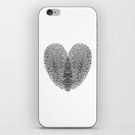 Love Fingerprint iPhone Skin