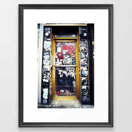 Graffiti Door in Greenpoint, Brooklyn Framed Art Print