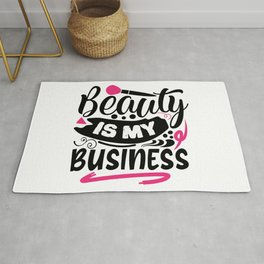 Beauty Is My Business Pretty Makeup Rug