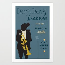 Dog Days Jazz Bar Art Print