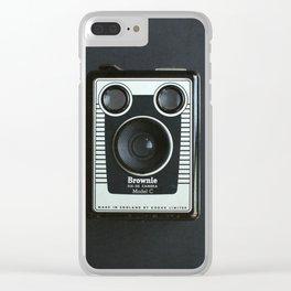 Black Box Brownie Camera Clear iPhone Case