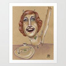 CHINCHILLA TEA PARTY Art Print