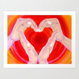 Hands of Hearts Art Print