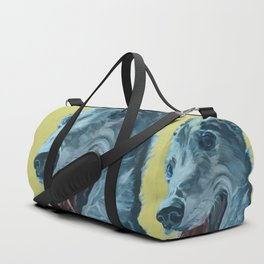 Dilly the Greyhound Portrait Duffle Bag