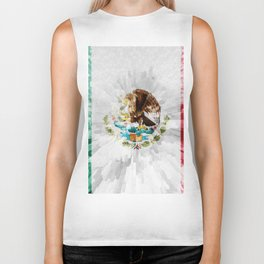 Extruded Flag of Mexico Biker Tank