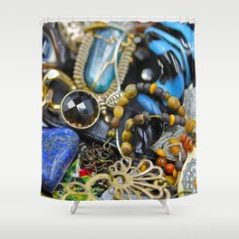 Jewelry Cluster 2 Shower Curtain