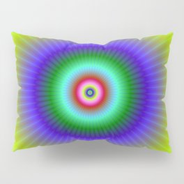 Colorful Concentric Rings Pillow Sham