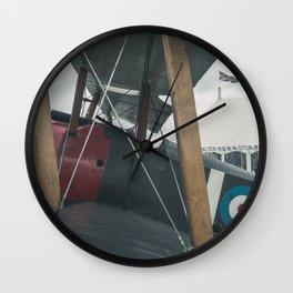 Biplane. Wall Clock