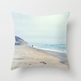 Pacific Ocean at Torrey Pines Throw Pillow