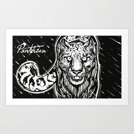 PANTHERA X HUNTR Art Print