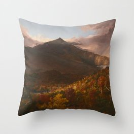 View of Schroon Mountain, Essex County, New York, After a Storm by Thomas Cole Throw Pillow