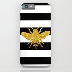 Bee Art in gold glitter effect Slim Case iPhone 6s