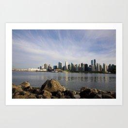 Vancouver Cityscape Art Print