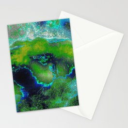 Cosmic Lime Stationery Cards