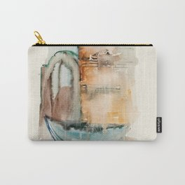 Boat in Nessebar Bay Aquarelle Carry-All Pouch