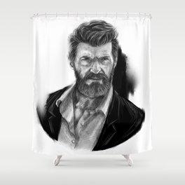 Old man Logan no.01(Hugh jackman) Shower Curtain
