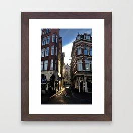 Morning Light in Amsterdam Framed Art Print