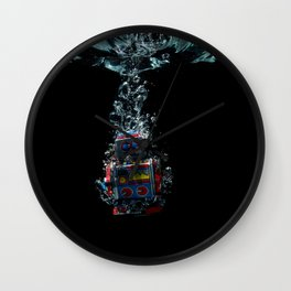 Robot in Water Wall Clock