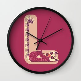 L for Lemur Wall Clock