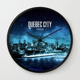 Quebec City Wallpaper Wall Clock