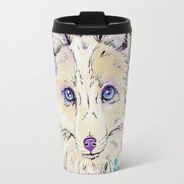 Frost - Watercolor fox painting Travel Mug