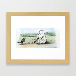 Too Many Captions to Choose From Framed Art Print