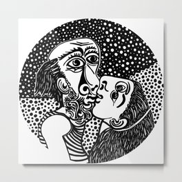 Picasso - The kiss Metal Print