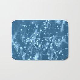 Blue Botanical Bath Mat