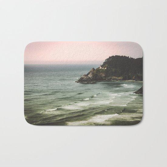 Pacific Northwest Grandeur - Heceda Lighthouse Bath Mat