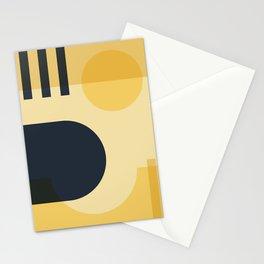 42501-3-p1 Yellow & Navy Blue, Bauhaus Style Art Set, Boho decor Stationery Cards