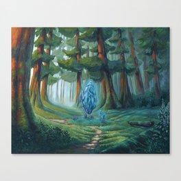 Forest magic crystal landscape Canvas Print