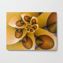 Rising, Modern Fractal Art Spiral Metal Print