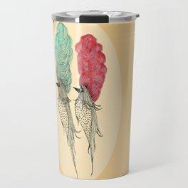 Bouffant Birds Travel Mug