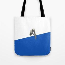 Diver (blue) Tote Bag