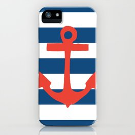 Red Nautical Stripe iPhone Case
