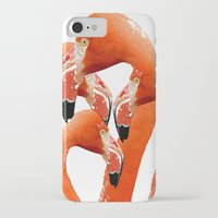 flamingos iPhone & iPod Cases featuring Flamingos by Regan's World