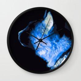 Blue Kitty Wall Clock