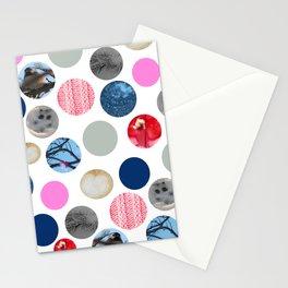 Winter Poka Dot Collage Stationery Cards