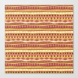 Stripey-Canyon Colors Canvas Print