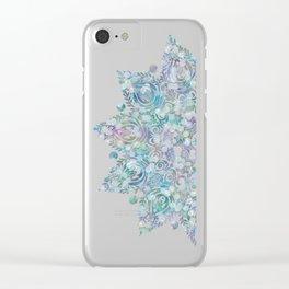 Mermaid Dreams Mandala Clear iPhone Case