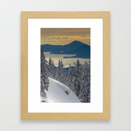 LIMITED EDITION (Almost sold out)  - KEVIN SANSALONE / HOWE SOUND SQUAMISH BC Framed Art Print