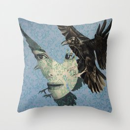 Nameless Here for Evermore Throw Pillow