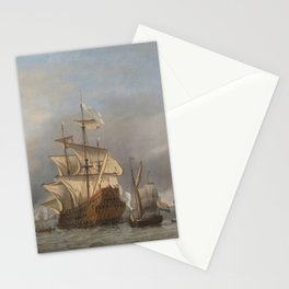 The conquest of the Royal Prince - Willem van de Velde (II) (ca.1670) Stationery Cards