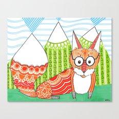 Fox Mountain Canvas Print
